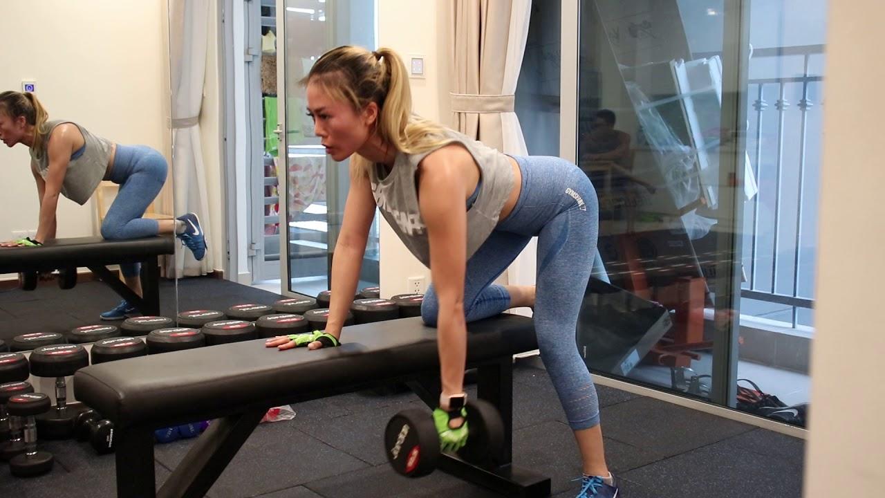 Rất Nặng Rất Tập Trung – Miss Sophie Kéo Lưng Tạ Đơn 12,5kg 3 hiệp Liên Tục – Bài Tập Khó Cho Nữ