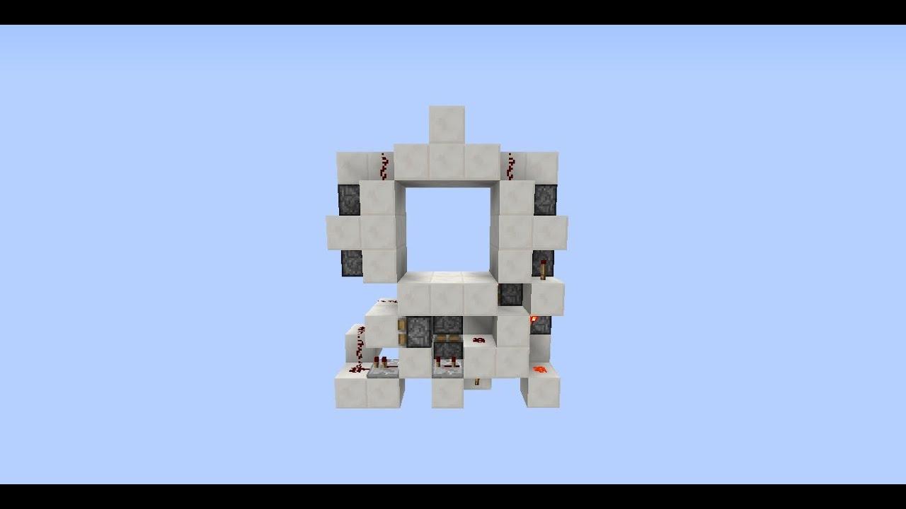 porte 3x3 tuto ultra compact minecraft 1 5 2