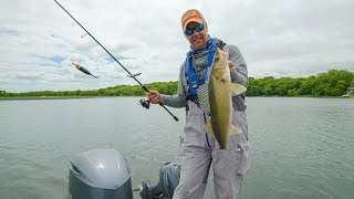 Daytime Slip BOBBER Fishing for WALLEYE! Go Angling E8