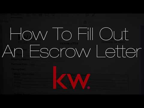 How To Fill Out An Escrow Letter - YouTube