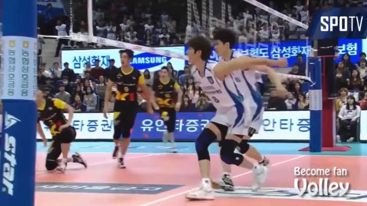 Top 10 Best Volleyball Actions From The South Korean V League Youtube