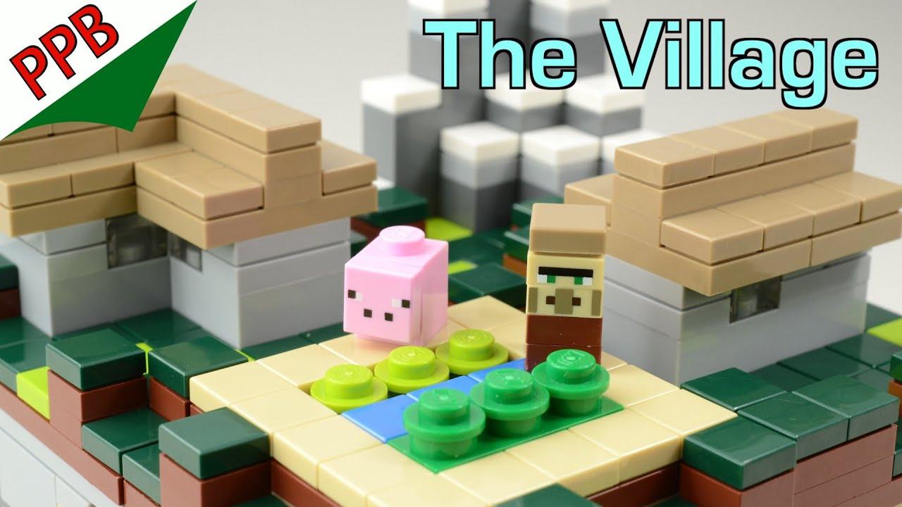 Lego Minecraft: The Village, micro world / Lego stop motion animation build
