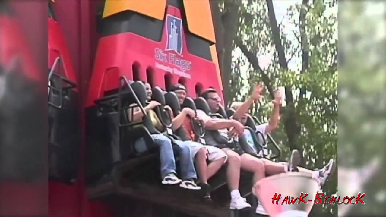 Hellevator Ride Footage From 2001 Six Flags Kentucky