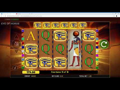 JackpotJoy New Slot (Eye Of Horus) Part 2 02/11/2018