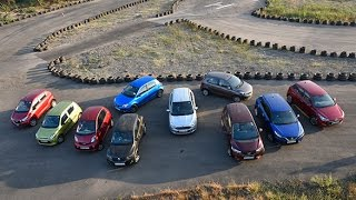 The OD Mega Hatchback Test - Comparing some of India's best-selling compacts