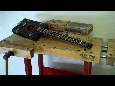 1930's Retro Cigar Box Guitar - Red Dog USA