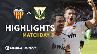 Highlights Valencia CF vs CD Leganés (1-1)