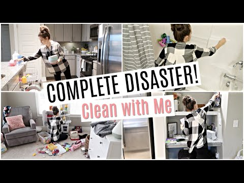 COMPLETE DISASTER!!! // ULTIMATE CLEAN WITH ME // CLEANING MOTIVATION // Simply Allie Cleaning