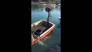 Zonguldak Alaplı batan balıkçı teknesini çıkartma.