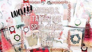 Huge Christmas Craft Haul   Target One Spot + Michaels 2017 🎄🎅🤶