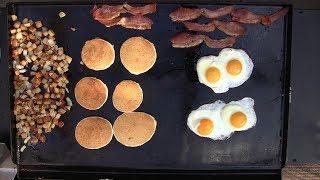 Camp Chef FTG600 flat top griddle breakfast Jan 2019