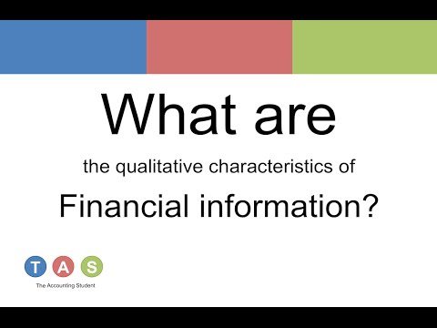 qualitative characteristics of useful financial information Chapter 3: qualitative characteristics of useful financial information main principle financial information is useful when it is relevant and represents faithfully what it purports to represent.