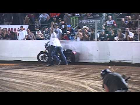 Roland Sands wins Harley Race #4 at Costa Mesa Speedway on Harley Night Sept 8th 2012