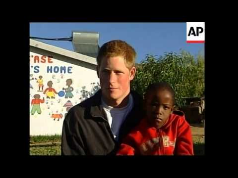 UK's  Prince Harry launches charity for AIDS orphans