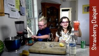Mocktails: Strawberry Daiquiri (mocktails4kids), Virgin Non-alcoholic