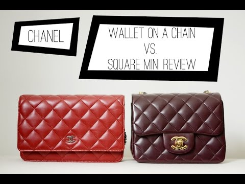 831f0dd8b213 CHANEL square mini versus the CHANEL wallet on a chain  comparison review -  YouTube