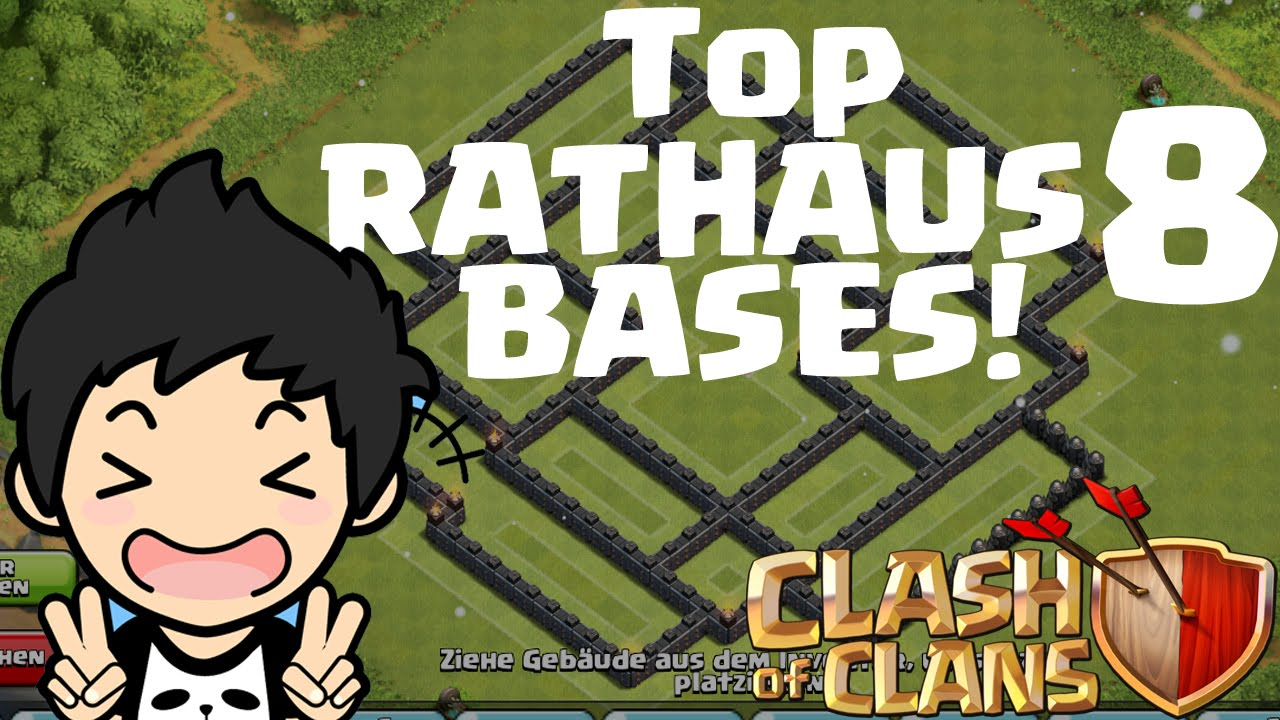 TOP RATHAUS 8 BASES! || CLASH OF CLANS || Let's Play CoC