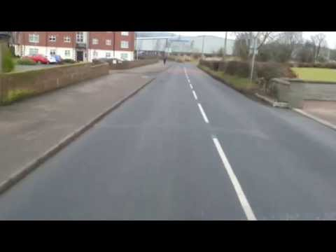 Runner in Doagh doesn't know how to cross a road