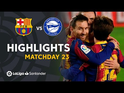 Highlights FC Barcelona vs Deportivo Alavés (5-1)