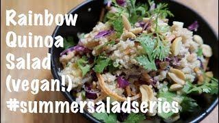 Rainbow Quinoa Salad (vegan!) #summersaladseries