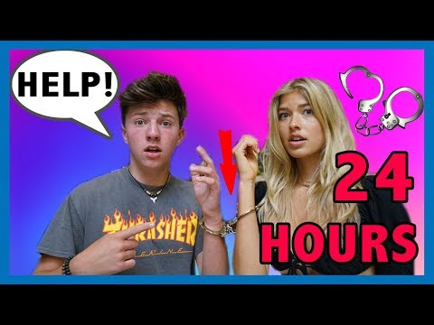 HANDCUFFED to a PROFESSIONAL MODEL for 24 HOURS Challenge *Bad Idea* 💋💍💕 | Parker Pannell