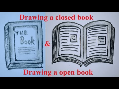 how to draw a closed book easy - Myhiton