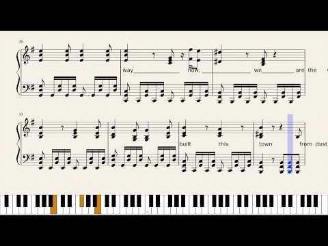 Warriors - Imagine Dragons - piano free sheet