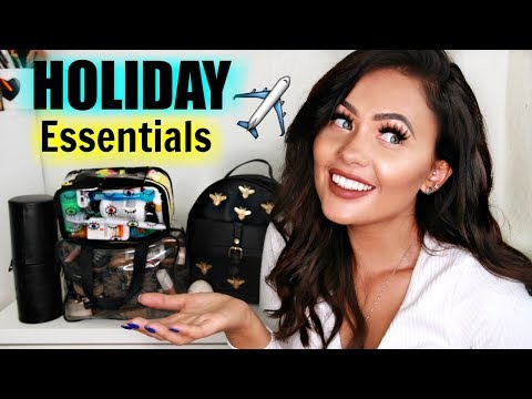 ALL THE CRAP I TAKE ON HOLIDAY!  Holiday Essentials