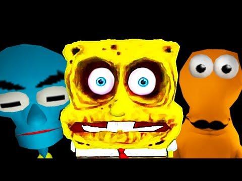 СТРАШНЫЙ СПАНЧ БОБ ХОРРОР Соседи Гренни - SpongeBob Neighbor Escape