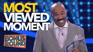 MOST VIEWED MOMENT EVER on Family Feud USA!