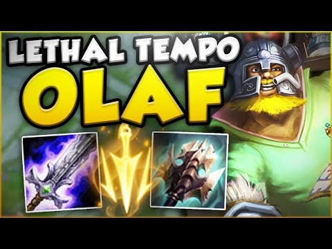 Download Youtube: HOW STUPID IS THIS NEW LETHAL TEMPO OLAF?! NEW OLAF TOP SEASON 8 GAMEPLAY! - League of Legends