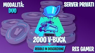 🔴PRIVATISERVER - FORTNITE LIVE ITA -WANT TO WIN 2000 V-BUCK? ENTRA AND WIN IN MY PRIVATE SERVER