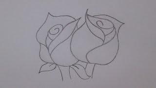 Como desenhar rosas