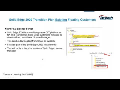 Solid Edge 2020: New Common Licensing - Swoosh Technologies