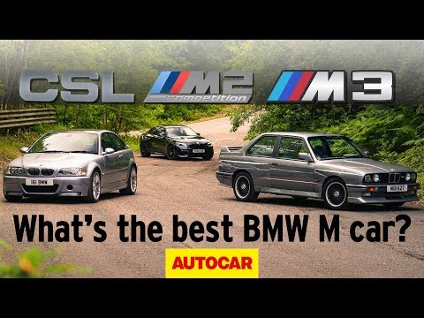 BMW E30 M3 Vs E46 M3 CSL Vs M2 Competition - What Is The Best M Car Of All Time? | Autocar Heroes