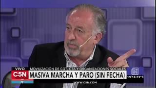 C5N - El Diario: Marcha masiva y anuncio de paro (Parte 2)