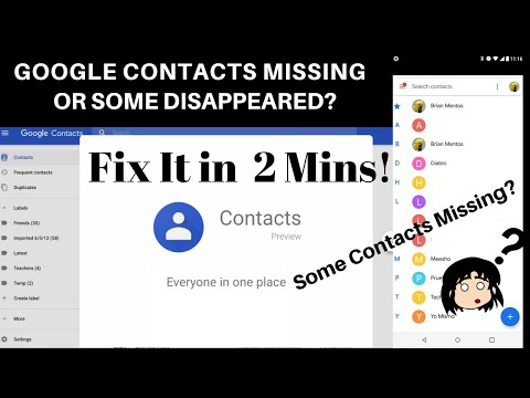 GOOGLE CONTACTS MISSING OR DISAPPEARED? FIX IT IN 2 MINS