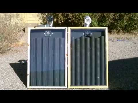 Solar Air Heater Comparison Steel Downspout Heater Vs