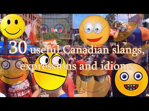30 Canadian words, phrases and idioms explained and illustrated English language