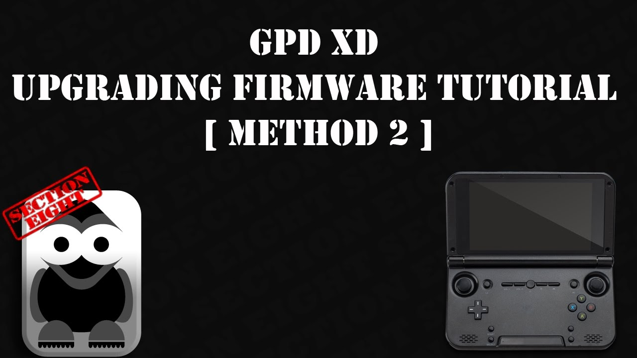 how to install gpd xd firmware