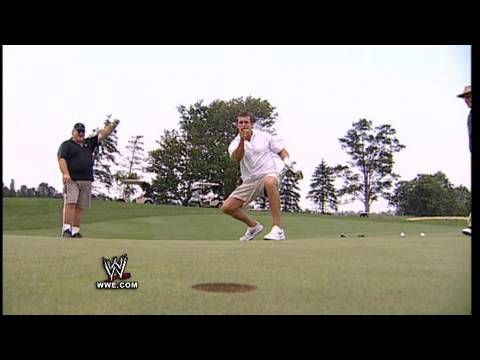 Cody Rhodes and Ted Dibiase compete in a charity golf