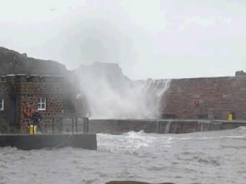 Dunbar Harbour storm