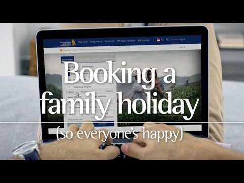 Singapore Airlines –Booking a family holiday on singaporeair.com