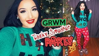 GRWM: Tacky Sweater Party
