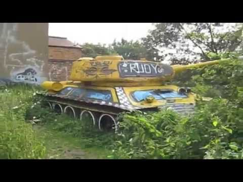 Abandoned Soviet T-34 Tank London