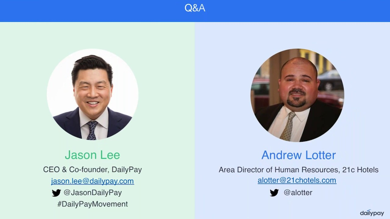 DailyPay Q&A at Connect CFO/HR Conference | DailyPay Inc