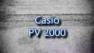 Casio PV2000 - Obscure Systems Showcase