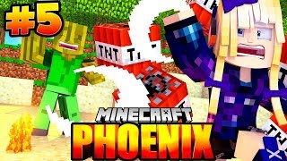 FLO jagt MEINE MINE in DIE LUFT?! - Minecraft Phoenix #005 [Deutsch/HD]