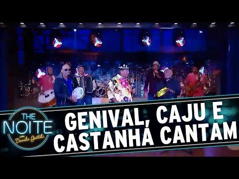 The Noite (03/10/16) - Caju, Castanha e Genival Lacerda cantam no palco