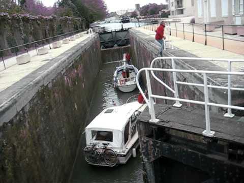 Montargis, France, upper lock